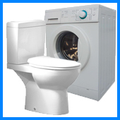 toilets and washing machines